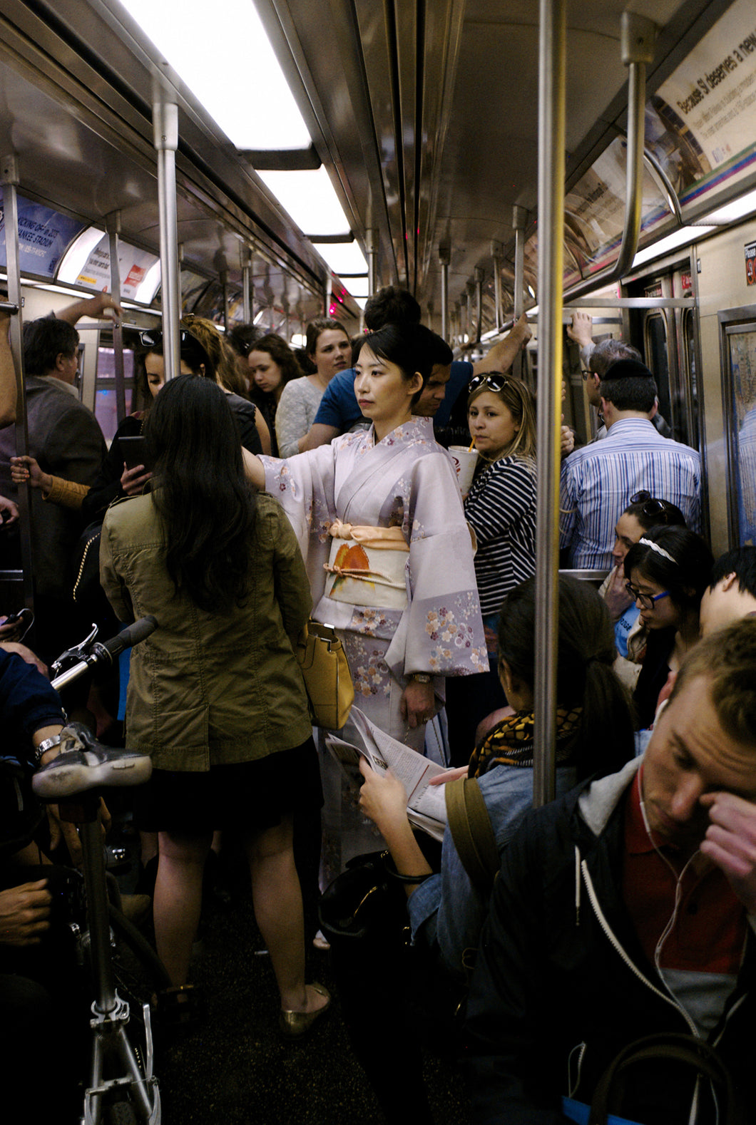 Japanese Woman on the NYC Subway