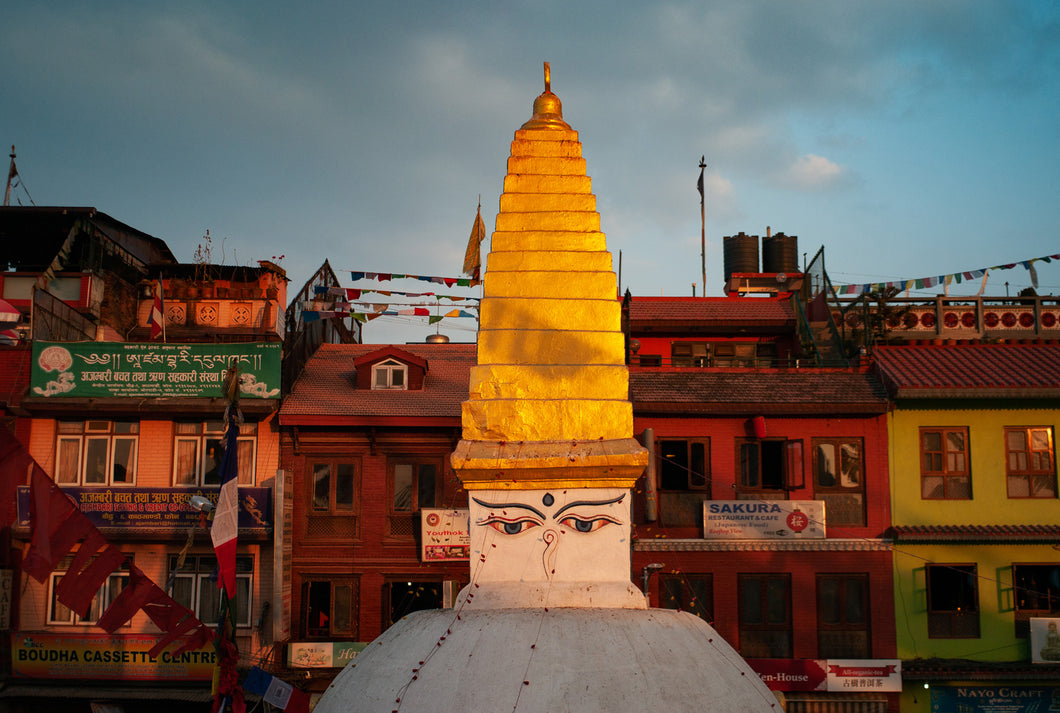 Afternoon Light at Boudhanath Stupa