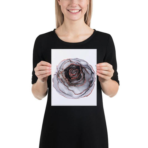 Fine Art Print of Black Flower - Nik Torres Designs