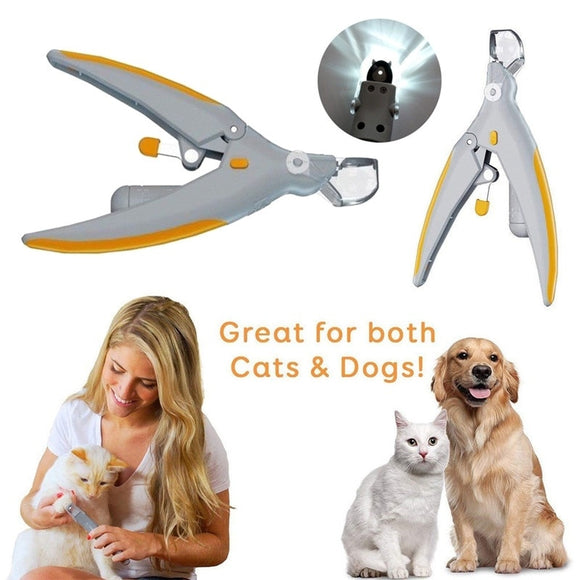 Pet Dog Cat Nail Clippers Trimmer With Led Light