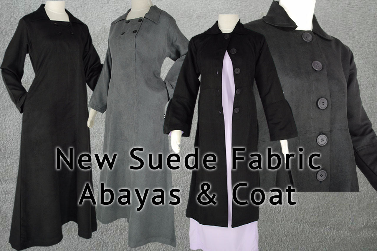 Just received new Four-Button Abaya & Coat in Suede Fabric