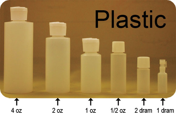 Plastic Bottle sizes
