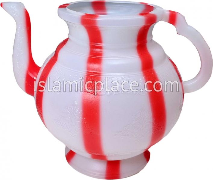Red Candy Stripe - Istinja Wudu Utensil (Lota)