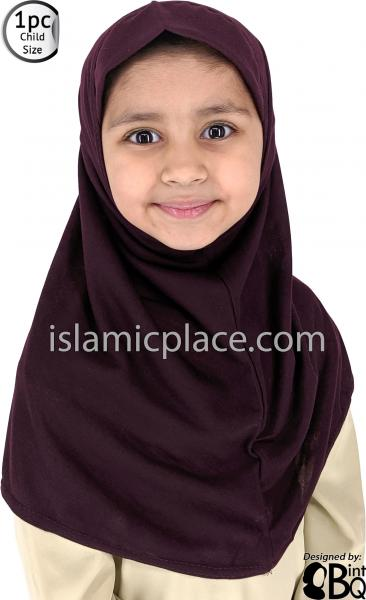Girls instant headscarf hijab plain al Amira ideal for any occassion school//nursery readymade pull on scarf