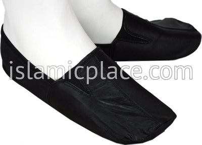 Black - Ankle Low-cut Khuff Leather socks