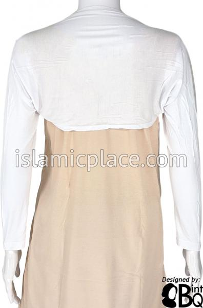 White - Connected Full Bolero Sleeve