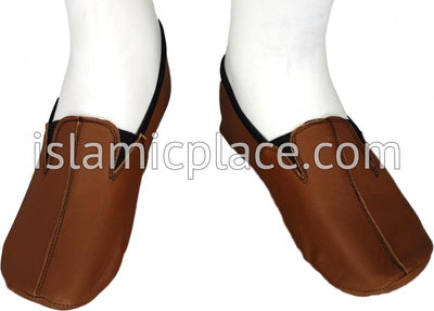 Camel - Ankle Low-cut Khuff Leather socks