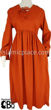 Burnt Orange - Yaminah Swing Abaya by BintQ - BQ42