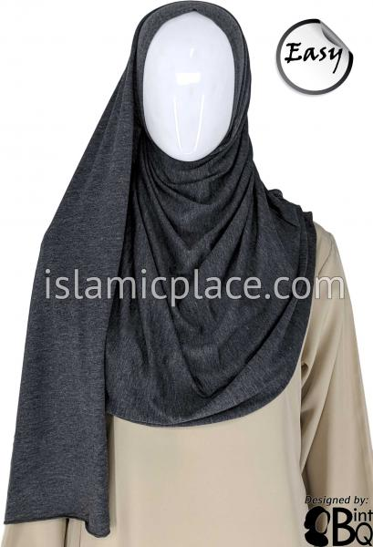 "Heather Gray Plain - Easy Aisha Jersey Shayla Long Rectangle Hijab 30""x70"""