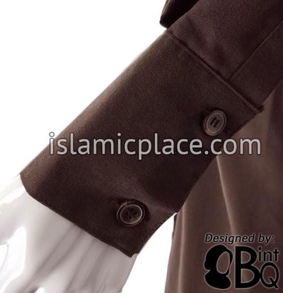 Brown - Safia Corduroy Abaya by BintQ - BQ252