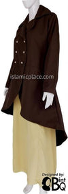 Brown - Qadira Corduroy Coat by BintQ - BQ151