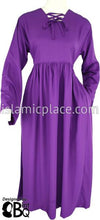Purple - Girl's Yaminah Swing Abaya by BintQ - BQ42