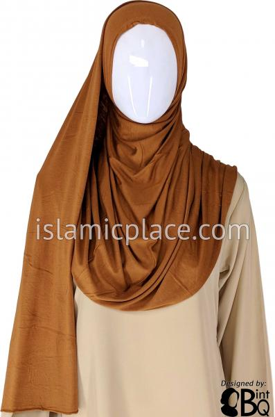 "Pumpkin Spice Plain - Jamila Jersey Shayla Long Rectangle Hijab 30""x70"""