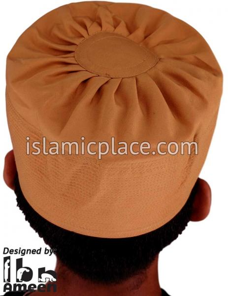 Camel - Namazi Crown Pleated Solid Kufi