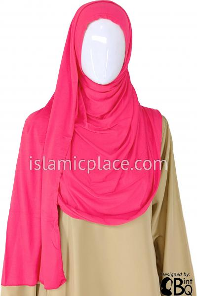 "Fuchsia Pink Plain - Jamila Jersey Shayla Long Rectangle Hijab 30""x70"""
