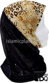 Leopard Print Design with Black Base - Kuwaiti Scarf