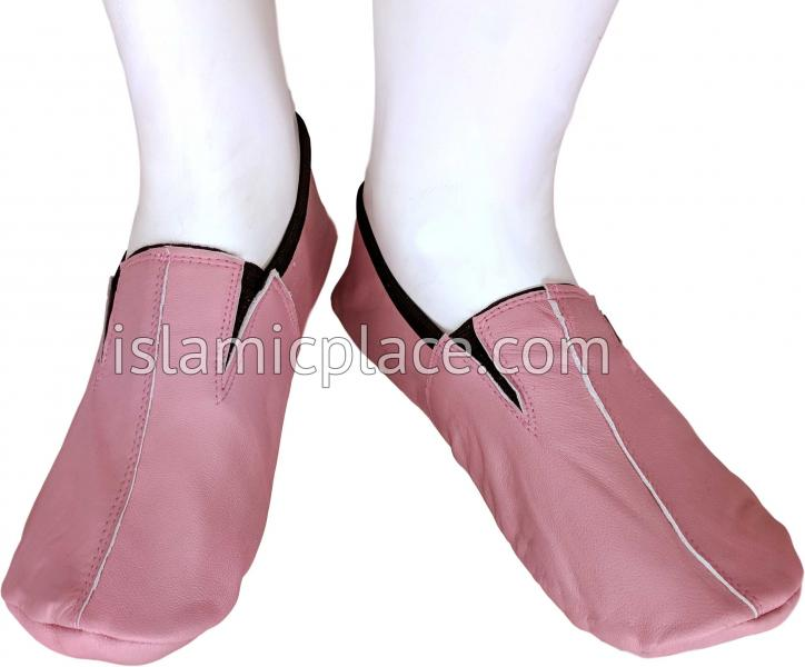 Pink - Ankle Low-cut Khuff Leather socks