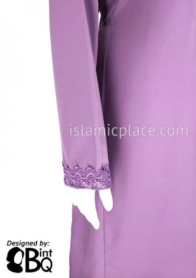 Lavender - Laila with Lace Style Abaya by BintQ - S6