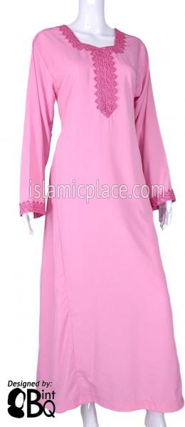 Pink - Laila with Lace Style Abaya by BintQ - S6
