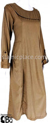 Amber Olive - Qudsiyah Urban Abaya with cute pockets - BQ304