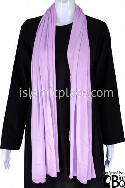 "Lavender Plain - Jamila Jersey Shayla Long Rectangle Hijab 30""x70"""