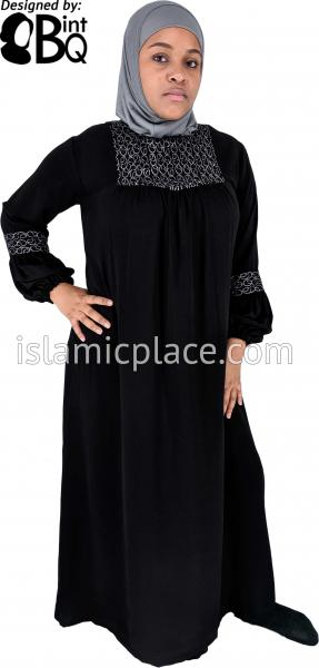 Black - Baby Doll Inspired Abaya with Embroidery by BintQ - BQ313