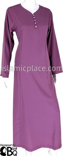 Lavender - Shakela Simple with Front Buttons Style Abaya by BintQ - S11