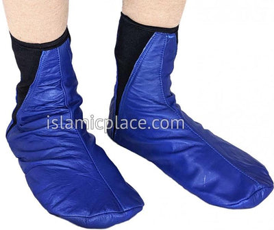 Royal Blue - Elastic Slip-on Khuff Leather socks