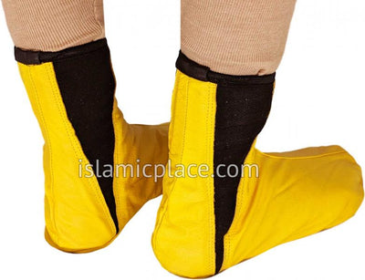 Golden Sand - Elastic Slip-on Khuff Leather socks