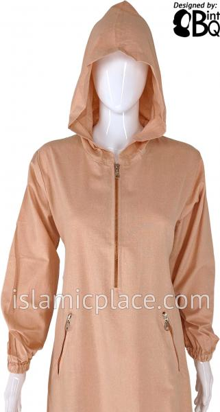 Salmon - Athletic Style Hooded Abaya by BintQ - BQ85