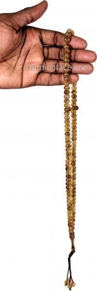 Amber - Tasbih Prayer Beads with Large Beads