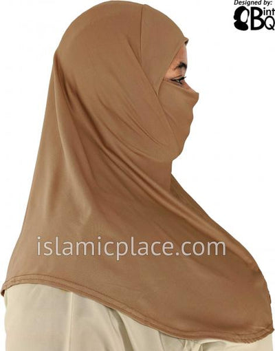 Oyster - Plain Teen to Adult (Large) Hijab Al-Amira with Built-in Niqab