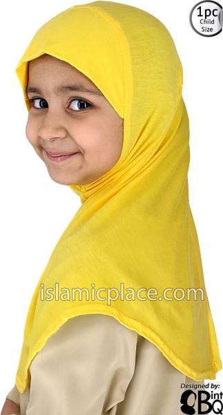 Banana Yellow - Plain Girl size (1-piece) Hijab Al-Amira