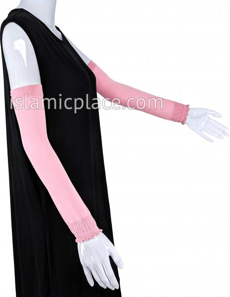 Baby Pink - Plain Wrist to Elbow Stretch Sleeve