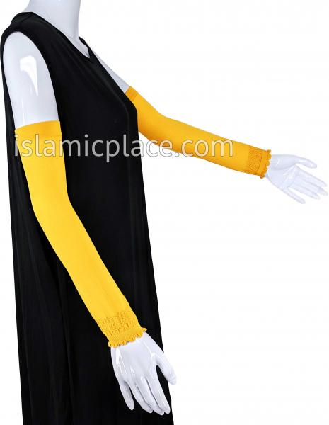 Gold - Plain Wrist to Elbow Stretch Sleeve