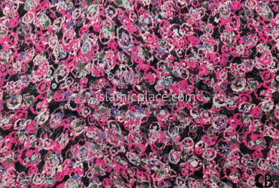 "Pink, Black, Gray, And Blue Sprayed On Design - 45"" Square Printed Khimar"