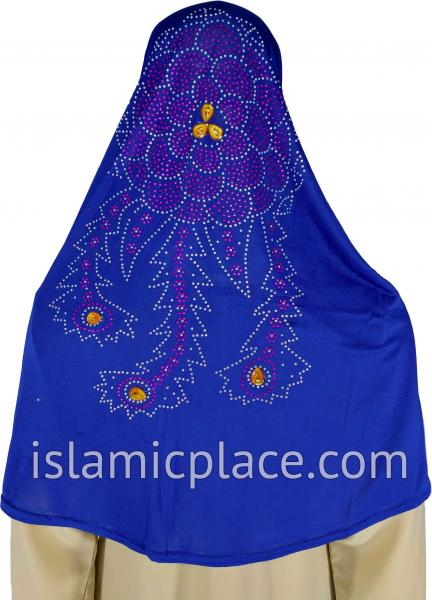 Cobalt Blue - Radiant Hijab Al-Amira Teen to Adult (Large) - Design 7