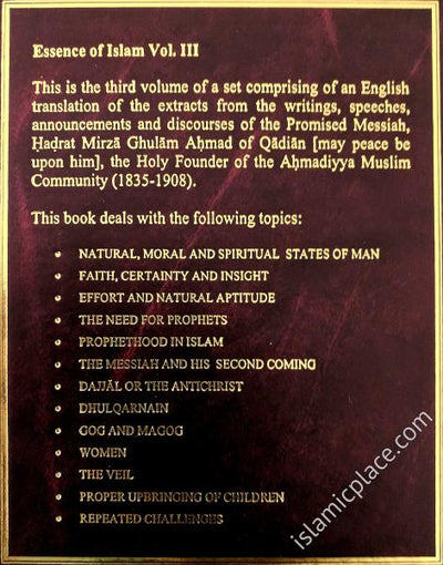 The Essence of Islam - volume 3