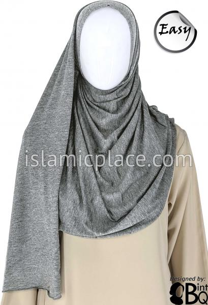 "Light Heather Gray Plain - Easy Aisha Jersey Shayla Long Rectangle Hijab 30""x70"""
