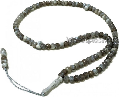 Gray - Tasbih Prayer Beads with Small Beads