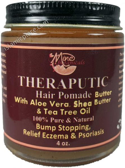 Therapeutic Hair Pomade Butter with Aloe Vera, Shea Butter & Tea Tree Oil