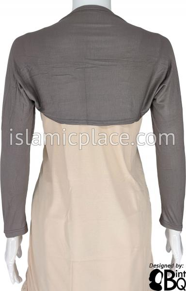 Charcoal Gray - Connected Full Bolero Sleeve