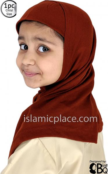Rust - Plain Girl size (1-piece) Hijab Al-Amira