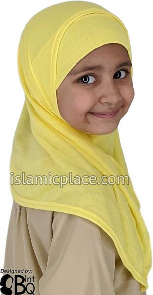Yellow Plain Girl size (2-piece) Hijab Al-Amira