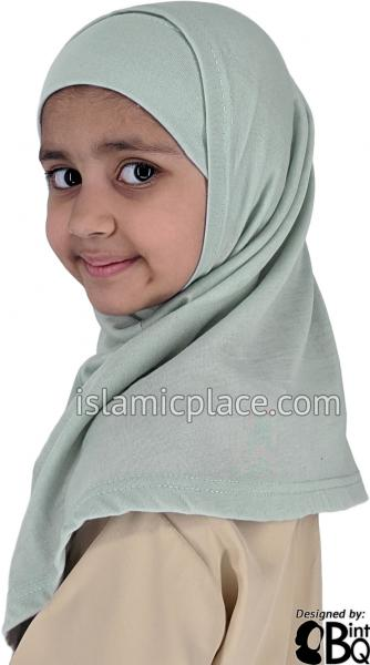 Light Gray Plain Girl size (2-piece) Hijab Al-Amira