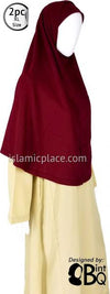 Burgundy Plain Adult (X-Large) Hijab Al-Amira