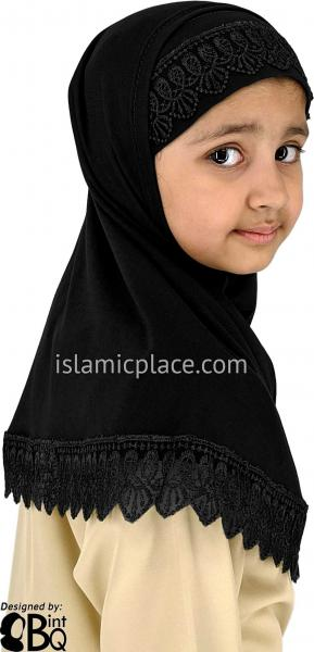 Black - Lace Girl size (2-piece) Hijab Al-Amira