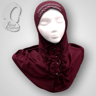 Burgundy - Dazzling Hijab Teen to Adult (Large)