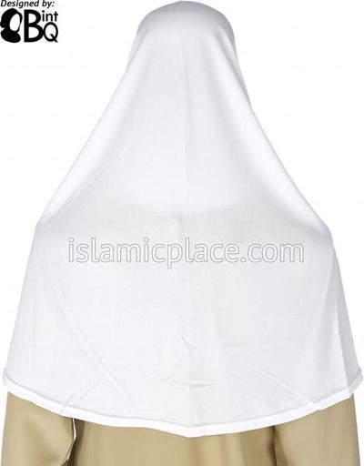 White - Dazzling Hijab Teen to Adult (Large)