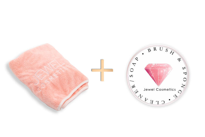 Blush Pink Quick Dry Towel & Max Strength Makeup Cleaner